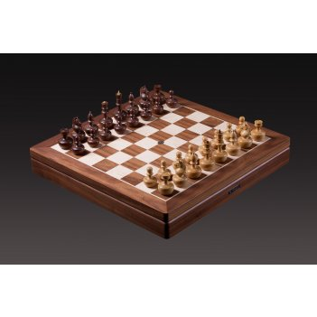 Шахматы дизайнерские от карпова самшит-орех