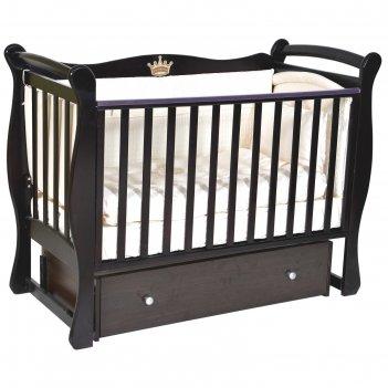 Кроватка детская viola 1, автостенка, ящик, универсальный маятник, цвет шо