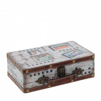 Шкатулка чемодан, l26 w15 h8 см