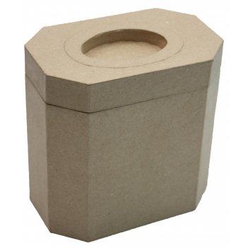 Коробочка прямоугольная из папье-маше с отверстием на крышке, 15,8 х 10 х