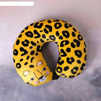 Подголовник антистресс «леопардовый котик»