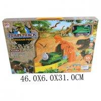 Трек парк динозавров эл., 68 деталей, поезд, эл.пит.не вх.в комплект