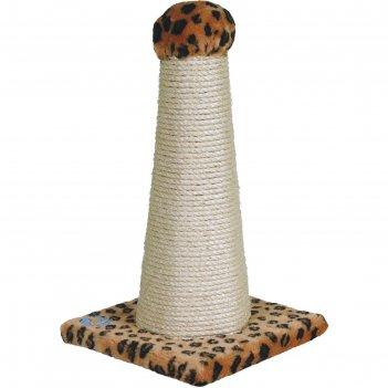 Когтеточка шестигранная зооник, сизаль, 30 х 30 х  55 см, микс цветов