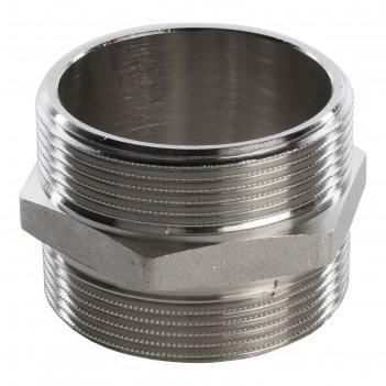 Ниппель stout sft-0004-000022, никелированный, наружная/наружная резьба 2