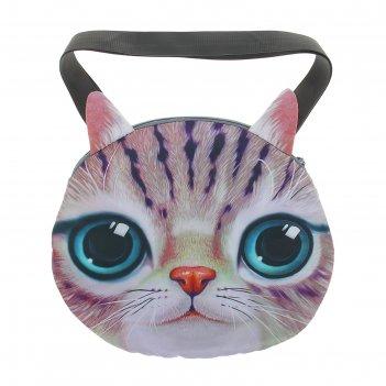 Мягкая сумка котик серенький