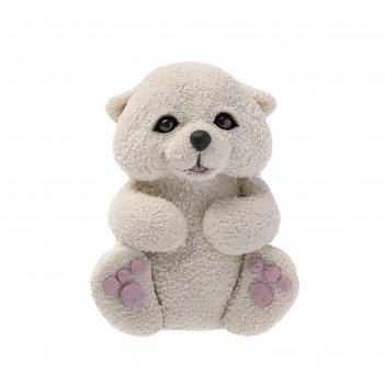 Силиконовая форма для мыла белый медвежонок