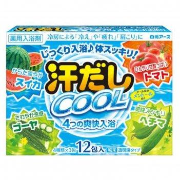 Освежающая соль для ванны hakugen earth asedashi cool с аминокислотами, ви