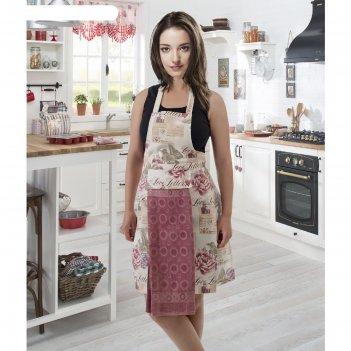 Фартук кухонный karna с салфеткой 30x50 см, 360 г/м2, цвет грязно-розовый