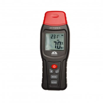 Измеритель влажности и температуры ada zht 70, контактный, 2 в 1, дер./стр