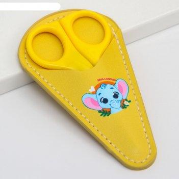 Детские ножницы слоник, цвет жёлтый