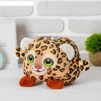 Мягкая игрушка-копилка «леопард», со звуком, с подсветкой