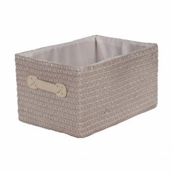 Плетеный короб с тканевым вложением №2