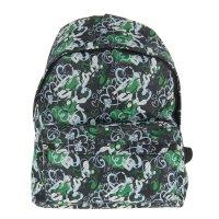 Рюкзак молодёжный сердца, 1 отдел, 1 наружный карман, цвет чёрно-зелёный