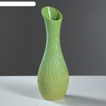 Ваза лиза зеленая, 32 см