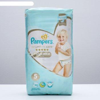 Трусики-подгузники pampers premium care pants junior 12–18 кг, 60 шт