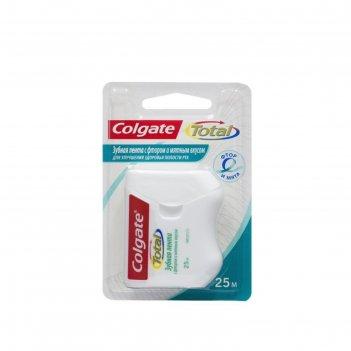 Зубная лента colgate total с фтором и мятным вкусом, 25 м