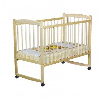 Детская кроватка колибри с качалкой, цвет берёза