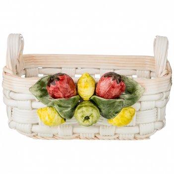 Корзина декоративная квадратная фрукты 24х20х14 см.