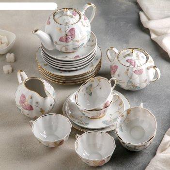 Сервиз чайный тюльпан. летняя симфония, 21 предмет