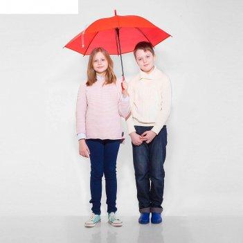 Зонт детский полуавтоматический однотонный, r=41см, цвет красный, микс