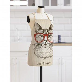 Фартук «умный кот», размер 68 x 65 см, оксфорд
