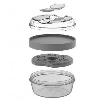 Ланч-бокс с охлаждающим элементом n'ice cup™ серый