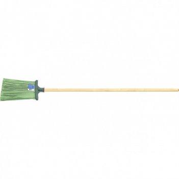 Метла полипропиленовая, 270 х 260 мм, распушеная, с черенком сибртех росси