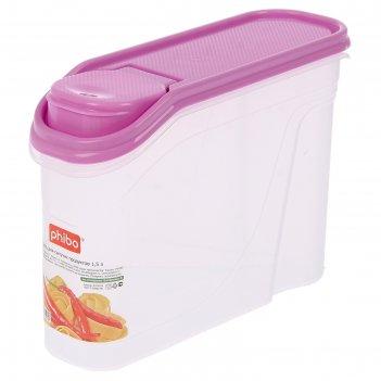 Емкость для сыпучих продуктов 1,5 л, цвет микс