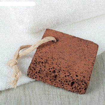 Пемза мелкозернистая плоская квадратная
