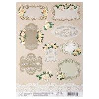 Бумага для творчества свадебные плашки, 21 х 29,7 см