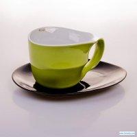 Набор для чая colani(чашка 0,45л+блюдца) зеленый