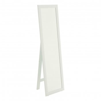Зеркало белое 45х160 см, напольное, ширина рамы мдф 55мм