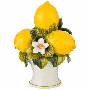 Изделие художественно-декоративное лимоны диаметр 15 см высота 20 см