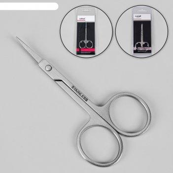 Ножницы маникюрные, загнутые, 9 см, цвет серебристый, ru-0620