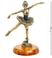 Am-1547 фигурка балерина (латунь, янтарь)
