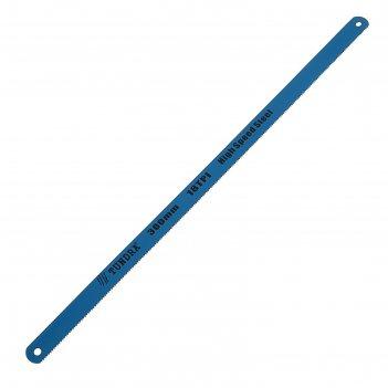 Полотна для ножовки по металлу tundra, 18 tpi, быстрорежующая сталь, зак/з