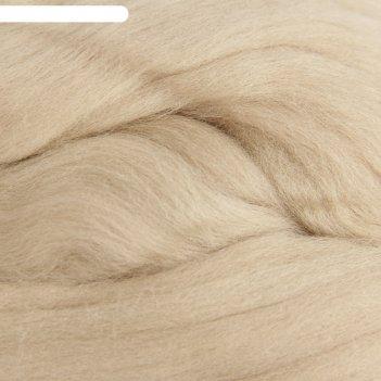 Шерсть для валяния 100% тонкая шерсть 50гр (270 мокрый песок)
