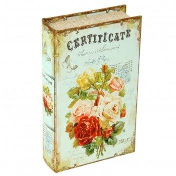 Сейф-книга шёлк пышные розы
