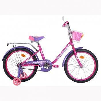 Kg1202 2-х колесный велосипед ba princess 12; 1s, с ручкой со светящимися