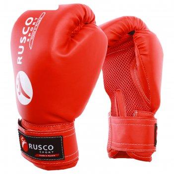 Перчатки боксерские rusco sport кож.зам. 10 oz цвет красный