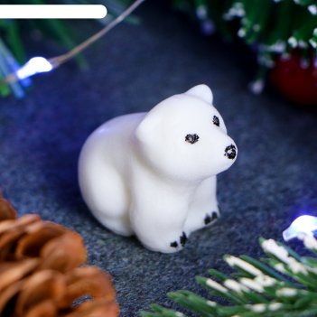 Мыло фигурное белый медвежонок 10г