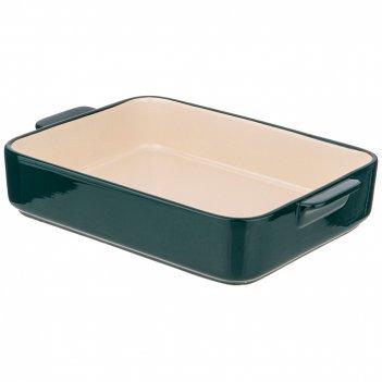 Блюдо для запекания и выпечки прямоуг. 31*22*6 см зеленое без декора