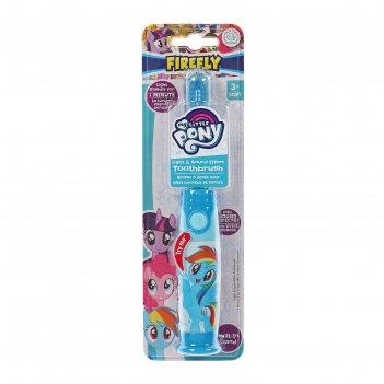 Зубная щетка my little pony lp-6.1, звуковой эффект, мягкая щетина, несъем