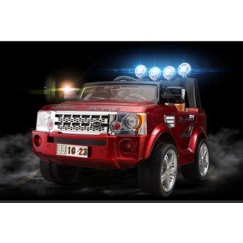 Детский электромобиль джип rover j012 вишневый металлик new 2014