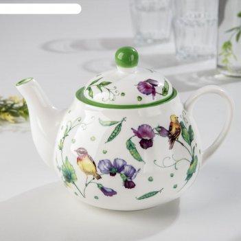 Чайник заварочный «зелёный сад», 1 л