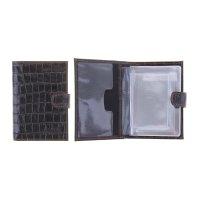 Бумажник водителя o-179 (с кнопкой)/o-179 (коричн.темный крокодил) № 83