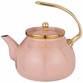 Чайник agness эмалированный, 3,0л подходит для индукц.плит
