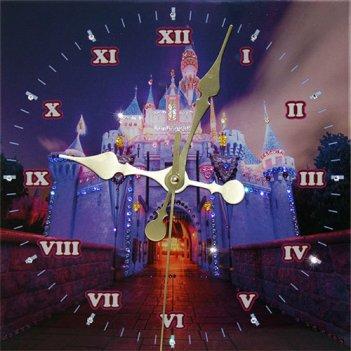 Картина сваровски - часы замок