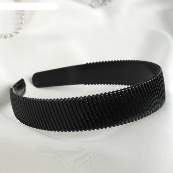 Ободок для волос ночка 2,5 см полосы, черный