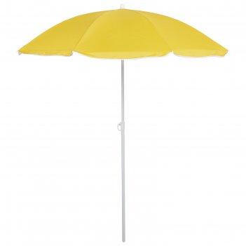 Зонт пляжный классика с механизмом наклона, d=210 cм, h=200 см, микс